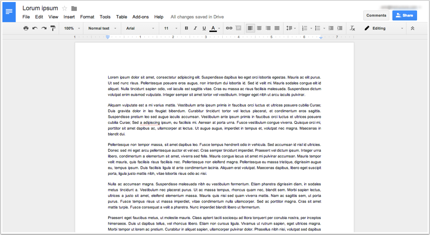 Create Google Document