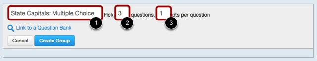 Enter Question Group Details