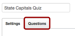 Open the Questions Tab