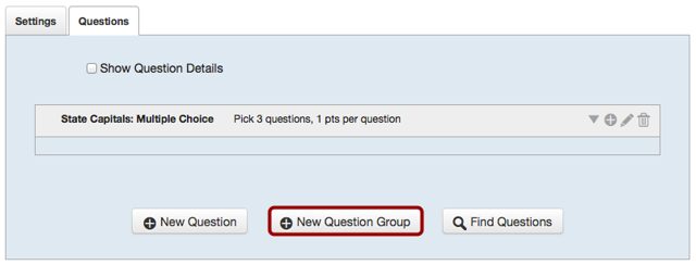 Create More Question Groups