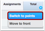 Switch to Points