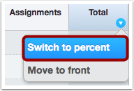 Switch to Percentages