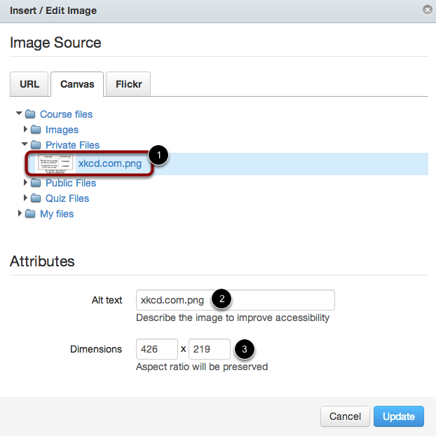 Select Image and Verify Attributes