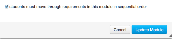 Require Students to Move through Requirements in Sequential Order
