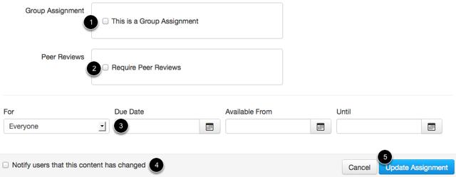 Edit Assignment Options