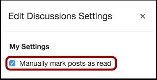 Manually Mark Posts as Read