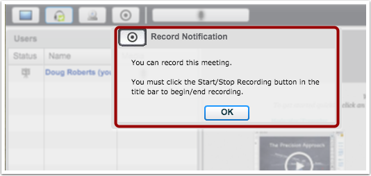 View Record Notification