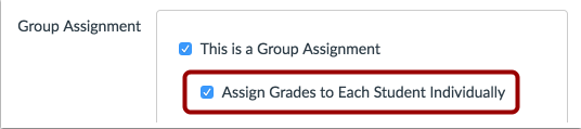 Asignar calificaciones individualmente