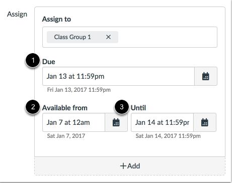 Editar fechas límites de entrega y de disponibilidad