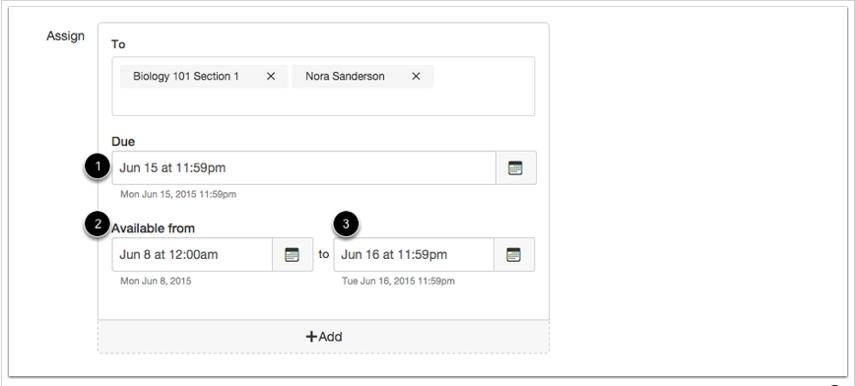 Editar fechas límites y de disponibilidad