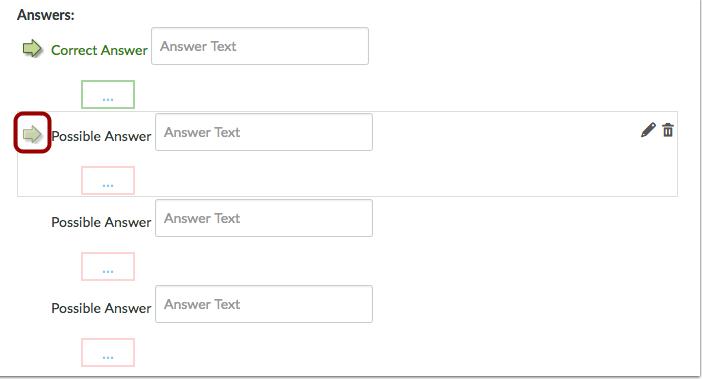 Cambiar la respuesta correcta