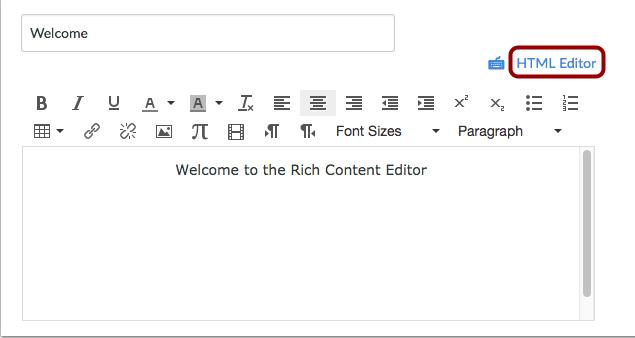 Abrir el Editor HTML