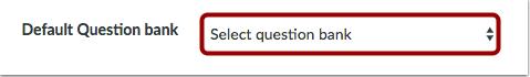 Seleccionar el banco de preguntas