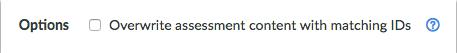 Sobrescribir el contenido de la evaluación