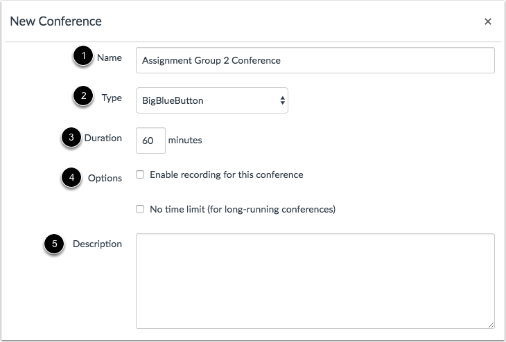 Add Conference Details