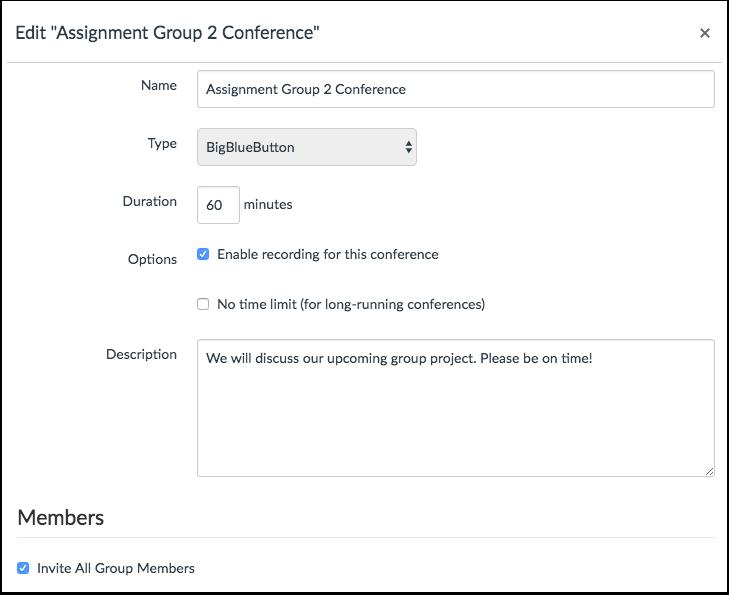 Edit Conference Details