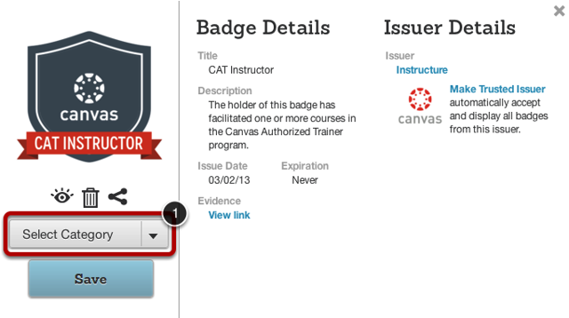 Add Badge to Category