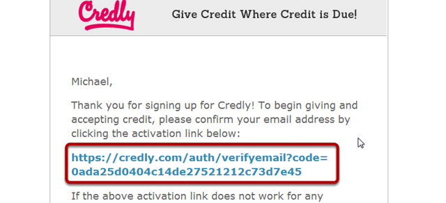 Confirm Credly account