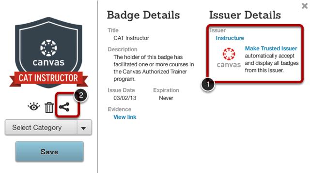 View Badge Details