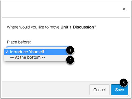 Choose Location to Move Discussion