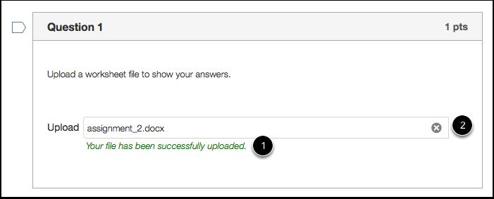 Student Confirmation of File Upload
