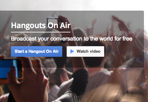 Visit Hangouts On Air Site
