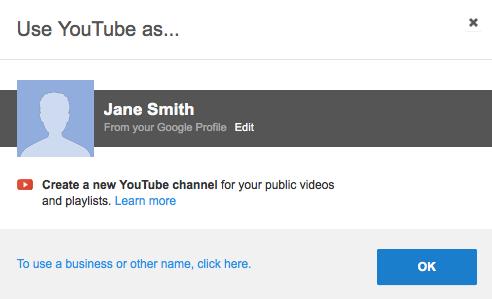 Use YouTube Account