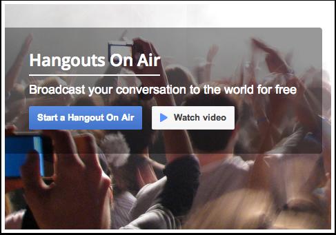 Visit Hangouts On Air Site