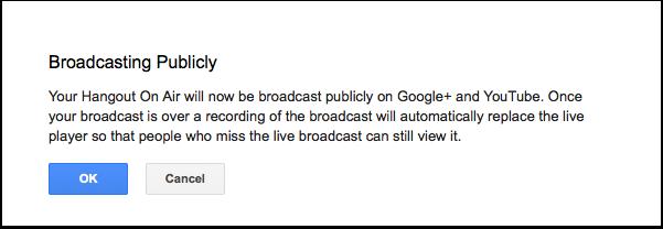 View public broadcast notice