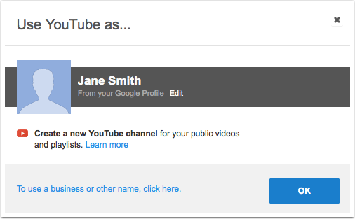 Use YouTube Account