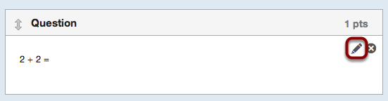 Edit Question