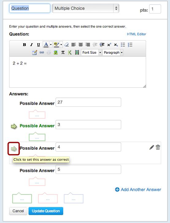Select New Correct Answer