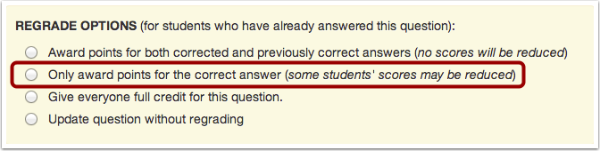 Award Points for Correct Answer