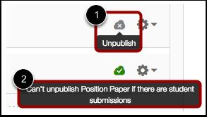 Unpublish an Assignment