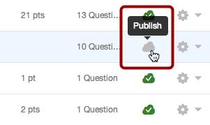 Publish a Quiz
