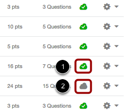 View Status of All Quizzes