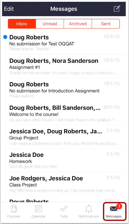 View Messages