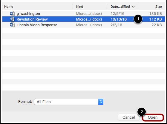Select File Upload