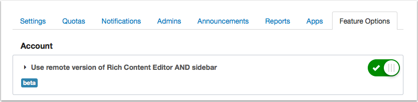 Use Remote Version of Rich Content Editor and Sidebar