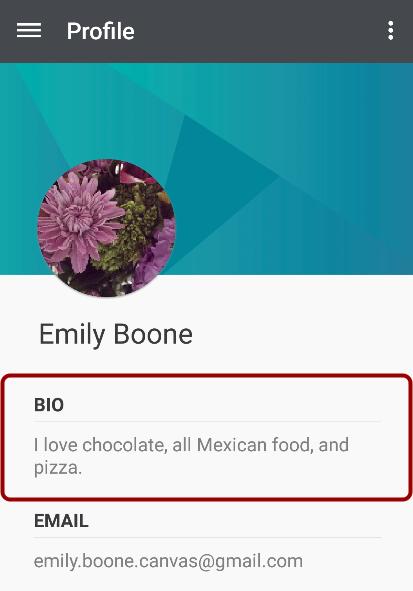 View Profile Bio