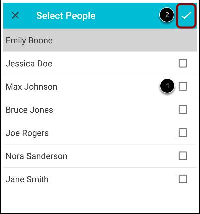 Choose Recipients