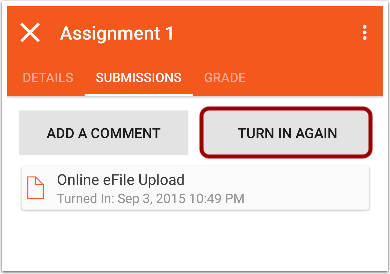 Resubmit Assignment