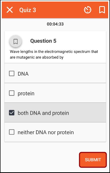Submit Quiz