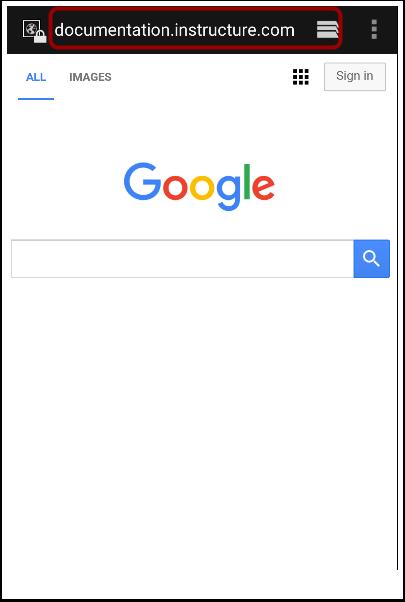 Enter Canvas URL