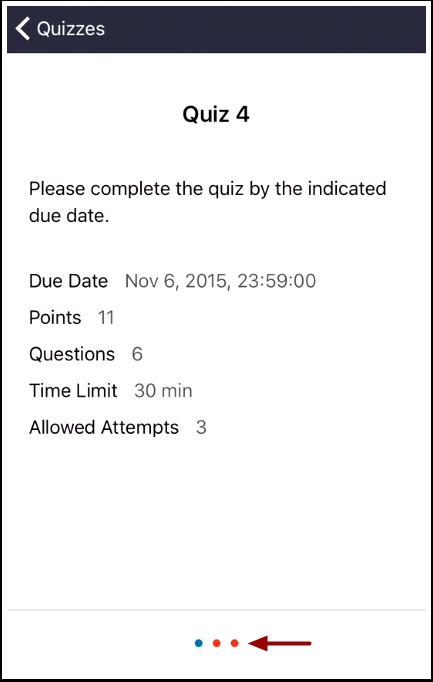 View Quiz Restrictions