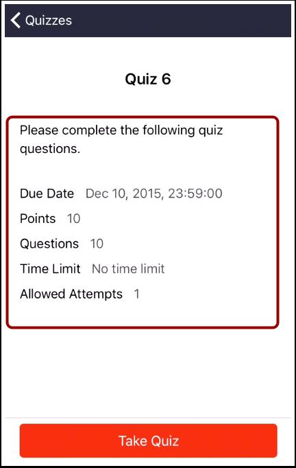 Read Quiz Details