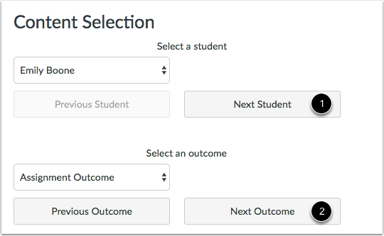 View Next Student or Outcome