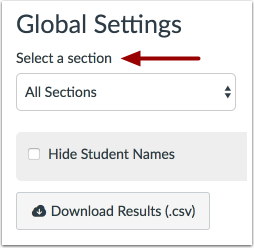 Select a Section