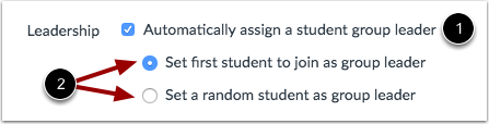 Automatically Assign a Student Group Leader Checkbox