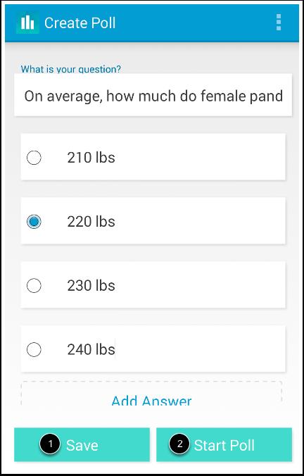 Edit Poll